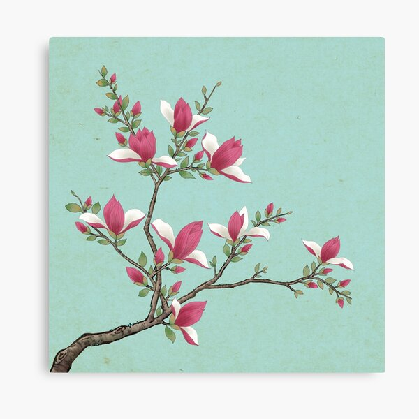 Magnolia G: Minhwa-Korean traditional/folk art Canvas Print