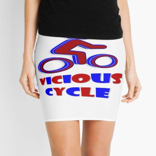 Vicious Cycle ~ Red & Black Mini Skirt