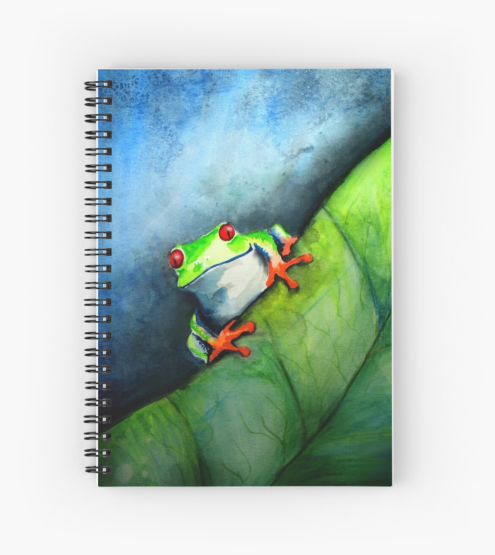 Tree Frog Watercolor by cherylcaseyart