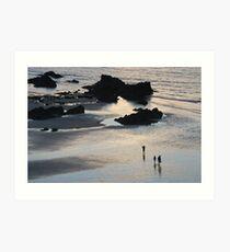 Newquay Beach Art Print