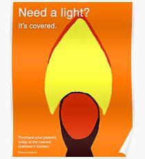 Bioshock Incinerate! Plasmid Ad Poster