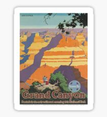 Vintage poster - Grand Canyon Sticker