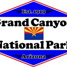 GRAND CANYON NATIONAL PARK ARIZONA MOUNTAINS HIKING CAMPING HIKE CAMP 1919 by MyHandmadeSigns