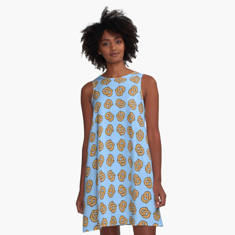 Dancing Pretzels A-Line Dress