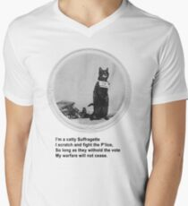 Catty Suffragette Men's V-Neck T-Shirt