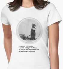 Catty Suffragette Women's Fitted T-Shirt