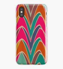 Bent shapes in retro colors iPhone Case