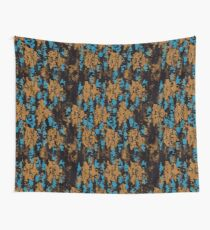 Blue brown texture Wall Tapestry