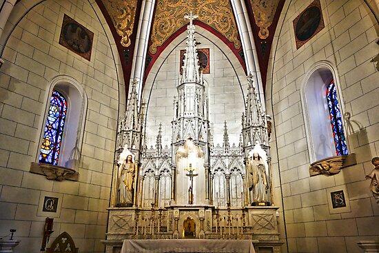 Loretto Chapel Altar Wide C by Robert Meyers-Lussier