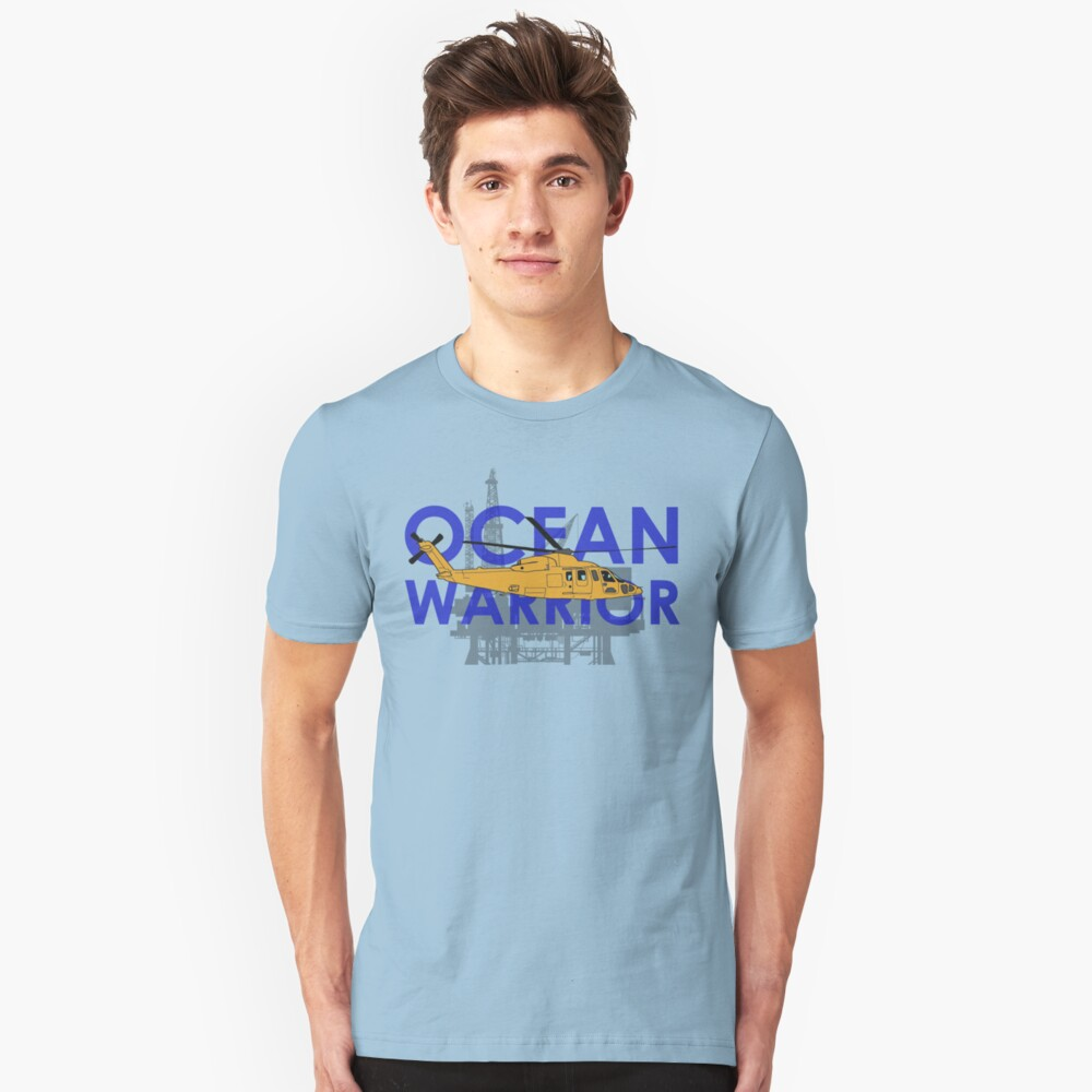Ocean Warrior, S-76 helicopter shirt Unisex T-Shirt Front