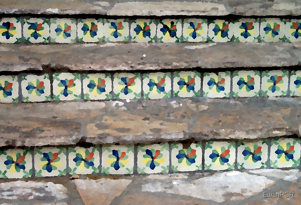 Tile Nestled in Stairs by EwanRGR