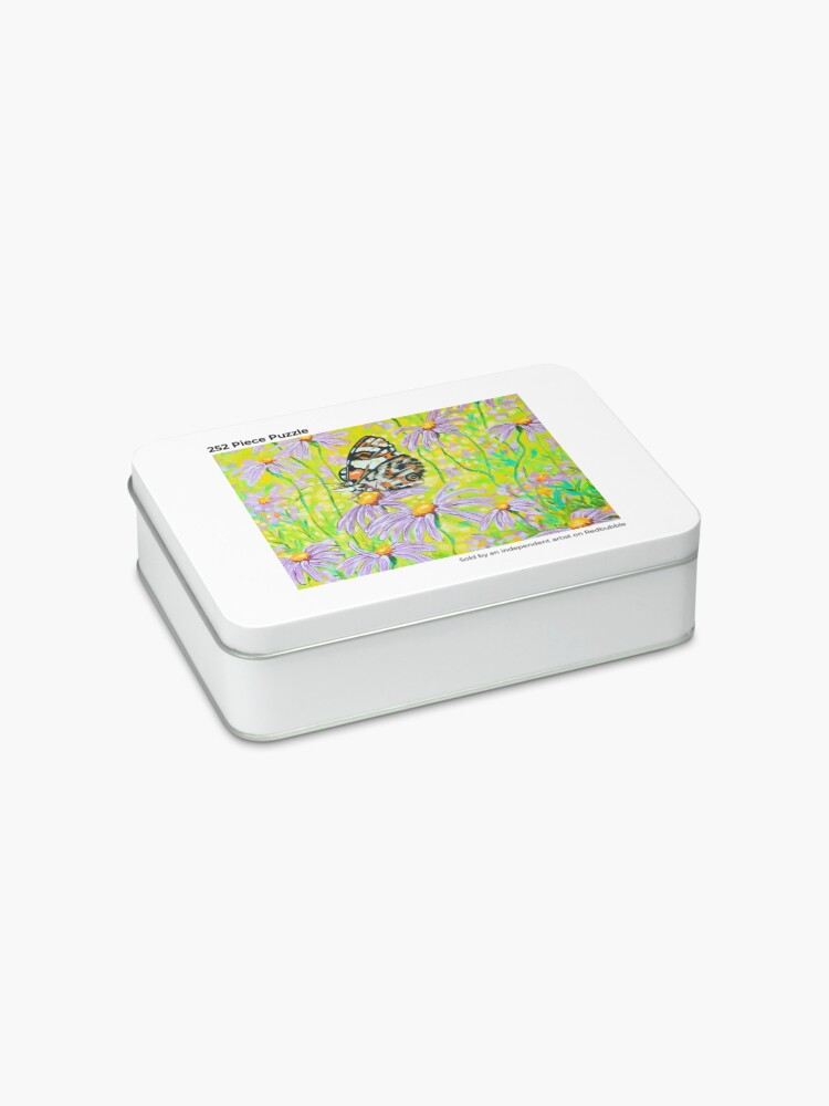 Alternate view of Happiness is a Butterfly Sitting in a Flower Patch Jigsaw Puzzle