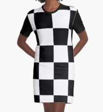 Checkerboard  Graphic T-Shirt Dress