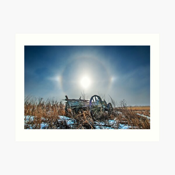 Sundogs and Old Wagon Art Print