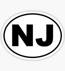 New Jersey NJ Sticker