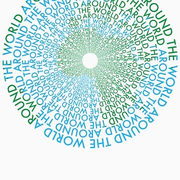 Around the World - Blue, Green by MysticAmmy