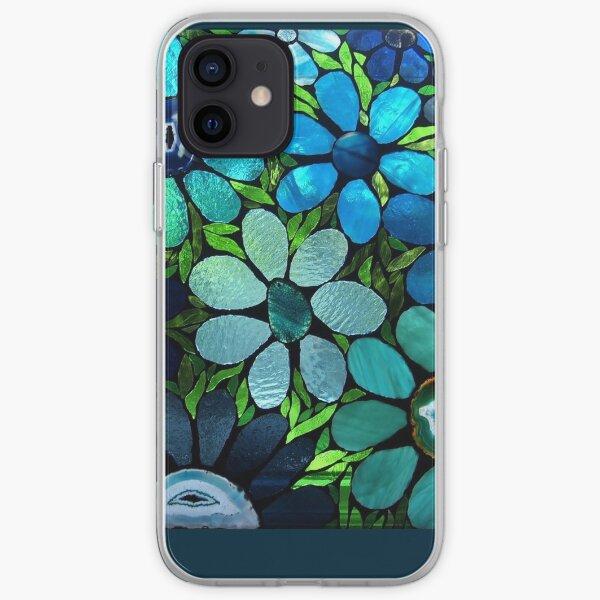 Garden of Blue Flowers - Mosaic Art iPhone Soft Case