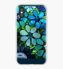Garden of Blue Flowers - Mosaic Art iPhone Case