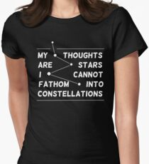 """my thoughts are ""  quote black Women's Fitted T-Shirt"