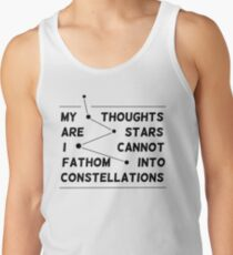 """my thoughts are ""  quote pink Tank Top"