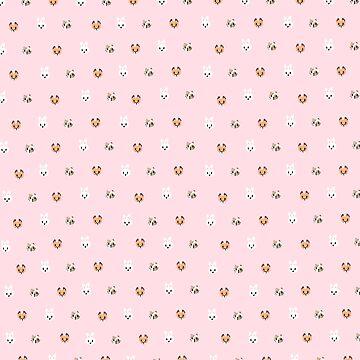 Tiny Animal Friends (Pink) by ATinyShadow