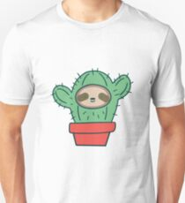 Sloth Face Cactus T-Shirt