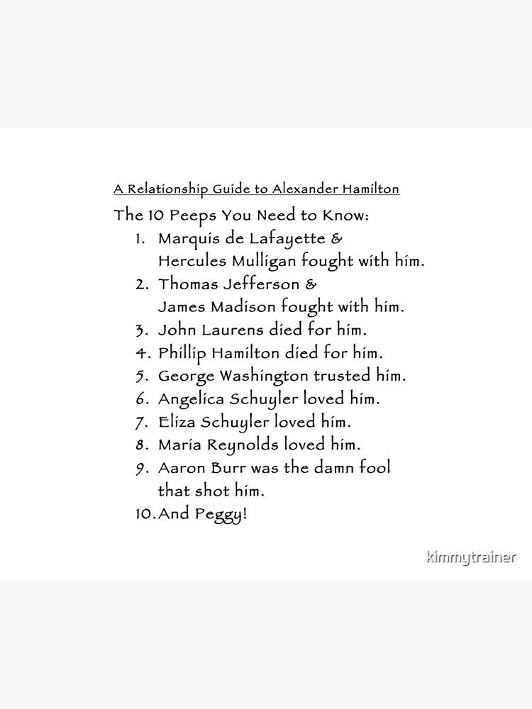 Una guía de relación de Alexander Hamilton (Versión 3) de kimmytrainer