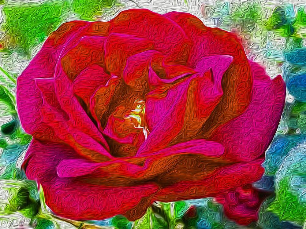 Red Rose by susangabrielart