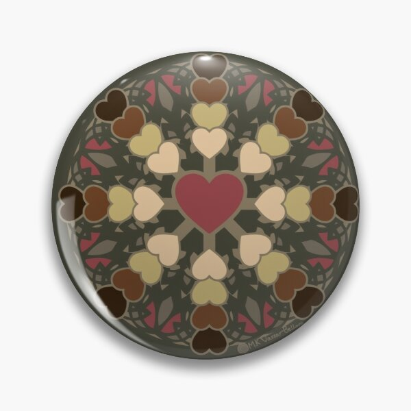 Colorblind Heart Pin
