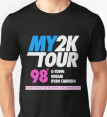 hits 98 DEGREES LOGO TOUR 2016 estr T-Shirt