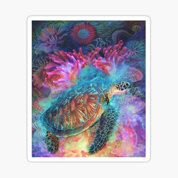 Schöne Meeresschildkröte Sticker