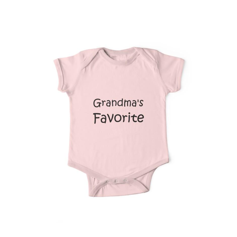 Grandma's Favorite Baby Onesie and Kid T-Shirt by starcloudsky
