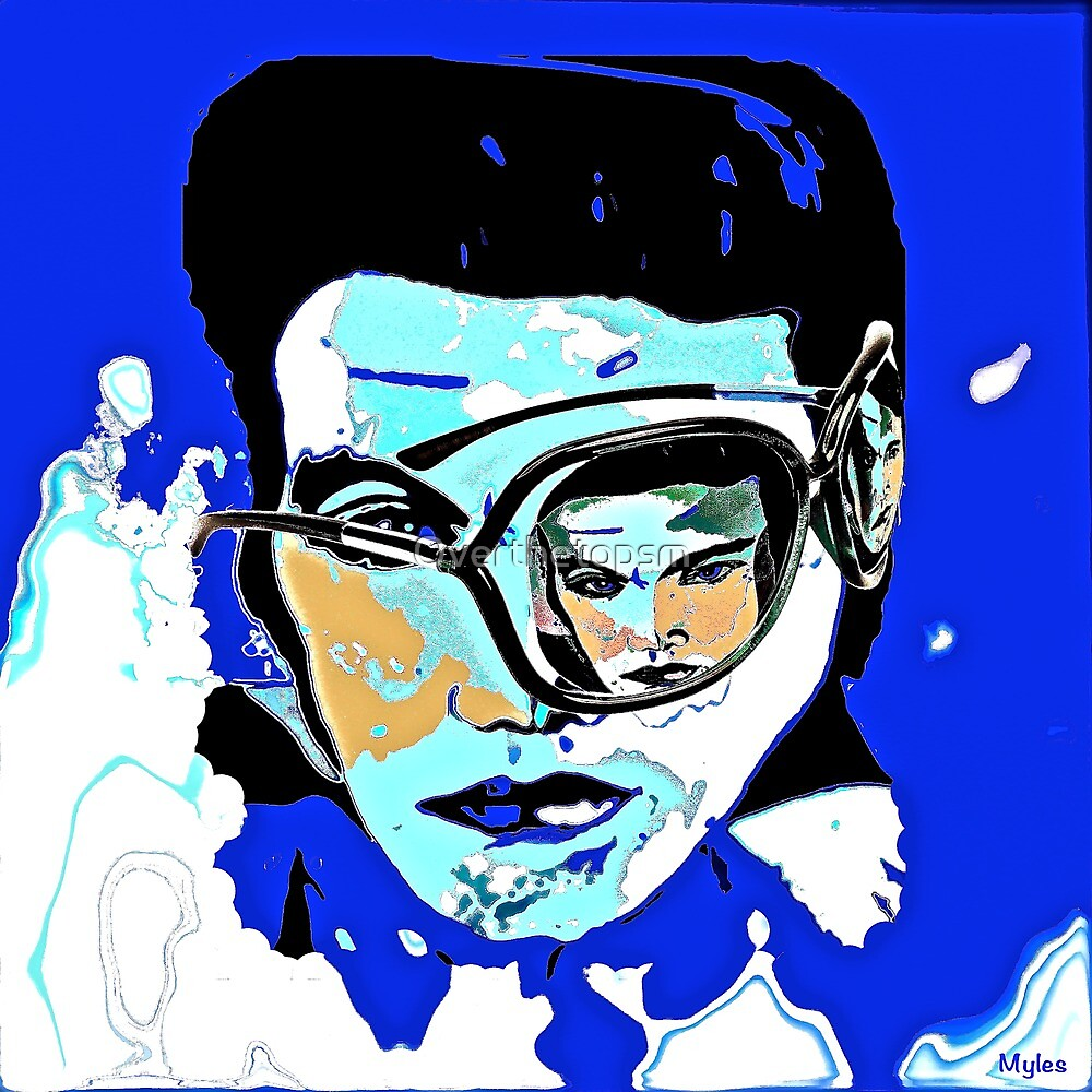 Elvis Presley Incognito Cool II by Saundra Myles