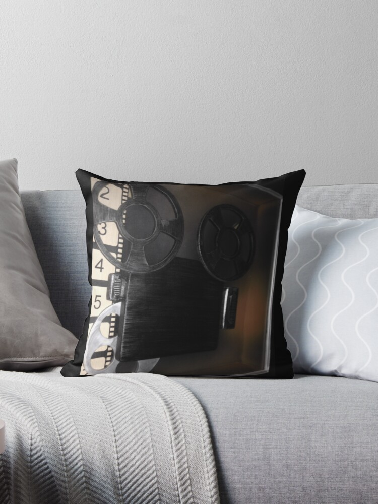 Vintage Film Reel Pillow by Napy