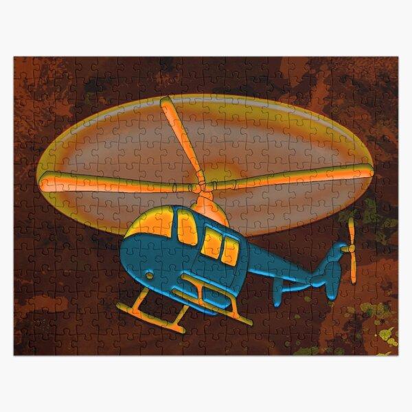 Legakulie  Hubschrauber türkis braun Jigsaw Puzzle