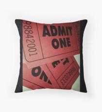 "Cojín Film Ticket ""Admit One"" Pillow"