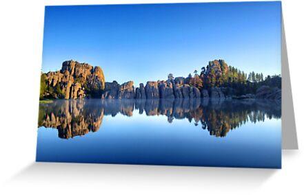 Lake Sylvan Reflection  by Luann wilslef