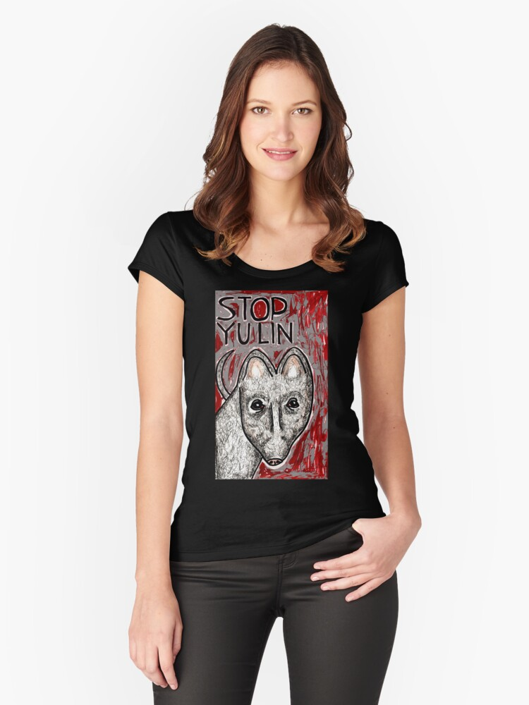 Stop Yulin Women's Fitted Scoop T-Shirt Front