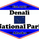 DENALI NATIONAL PARK ALASKA MOUNTAINS HIKING CAMPING HIKE CAMP 1917 by MyHandmadeSigns