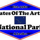 GATES OF THE ARCTIC NATIONAL PARK ALASKA MOUNTAINS HIKING CAMPING HIKE CAMP 1980 by MyHandmadeSigns