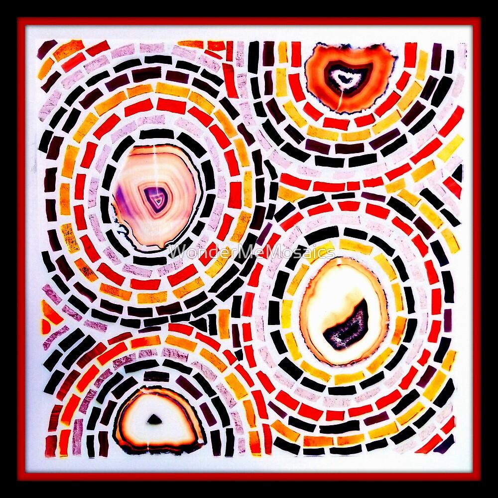 Stained Glass Circles - Mosaic Art by WonderMeMosaics