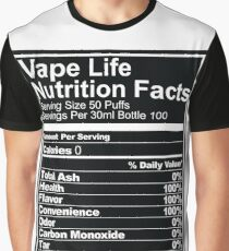 Vape Life Nutrition Facts Graphic T-Shirt