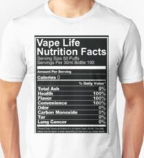 Vape Life Nutrition Facts Unisex T-Shirt
