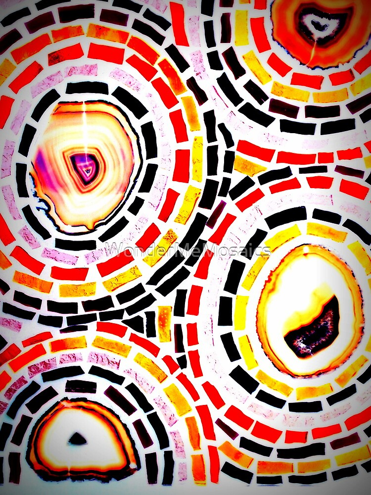 Multicolored Stained Glass Circles - Mosaic Art by WonderMeMosaics