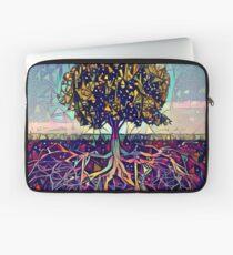 Abstrakter Baum des Lebens Laptoptasche