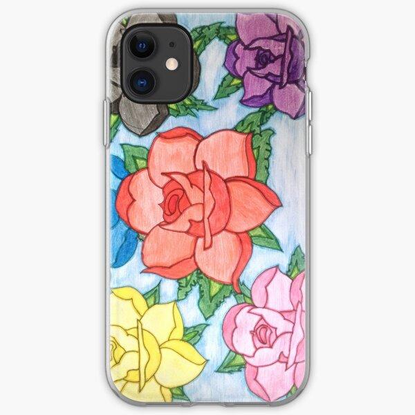 Rose Flower Phone Case Design iPhone Soft Case