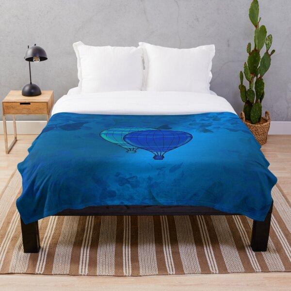 Legakulie Ballons blau türkis Throw Blanket