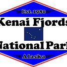 KENAI FJORDS NATIONAL PARK ALASKA MOUNTAINS HIKING CAMPING HIKE CAMP 1980 by MyHandmadeSigns