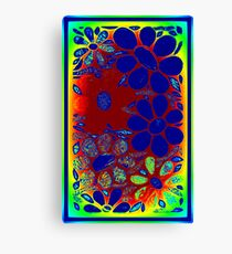 Psychedelic Stained Glass Garden - Mosaic Art Canvas Print