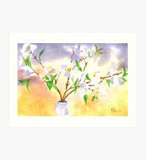 Dogwood in Watercolor Art Print